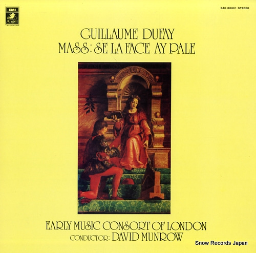 MUNROW, DAVID dufay; mass-se la face ay pale EAC-80301 - front cover