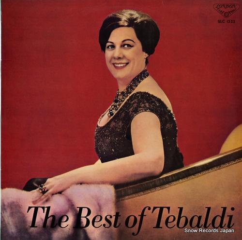 TEBALDI, RENATA the best of tebaldi SLC1322 - front cover