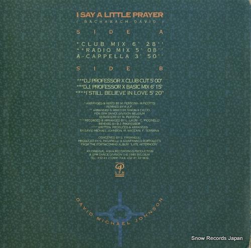 JOHNSON, DAVID MICHAEL i say a little prayer AQ0116 - back cover