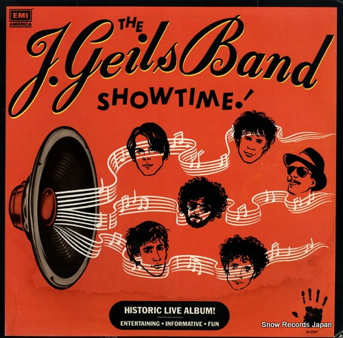 J. GEILS BAND, THE showtime! SO-17087 - front cover