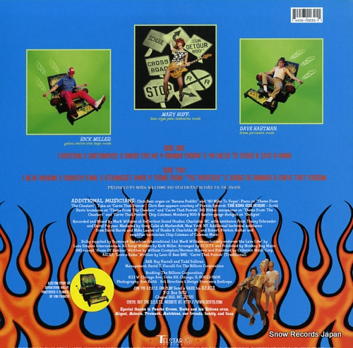 SOUTHERN CULTURE ON THE SKIDS plastic seat sweat TR030 - back cover