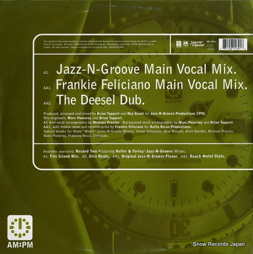 MONE movin' (jazz-n-groove / frankie feliciano mixes) 581439-1 - back cover