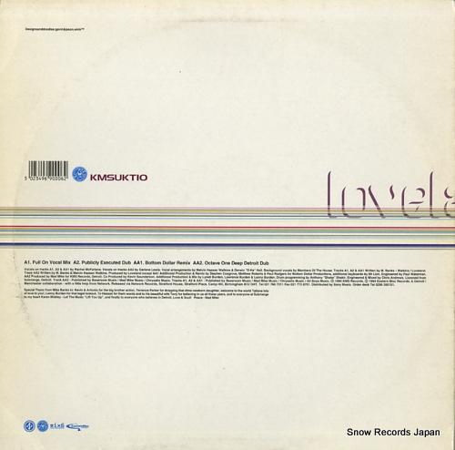 LOVELAND let the music (lift you up) KMSUKT10 - back cover