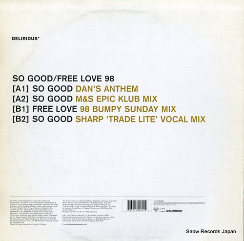 ROBERTS, JULIET so good / free love 98 74321554001 - back cover