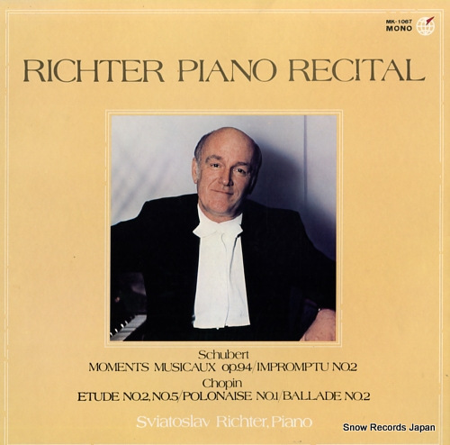 RICHTER, SVIATOSLAV piano recital MK-1067 - front cover