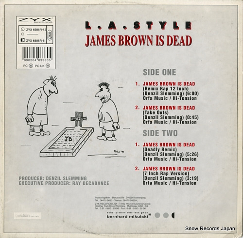L.A. STYLE james brown is dead (remix) ZYX6586R-12 - back cover