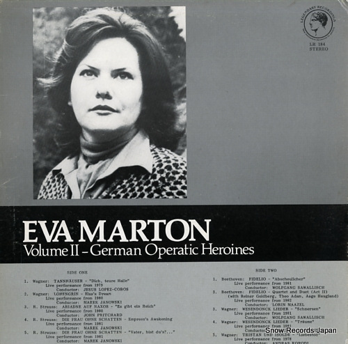 MARTON, EVA volume ii / german operatic heroines LR184 - front cover