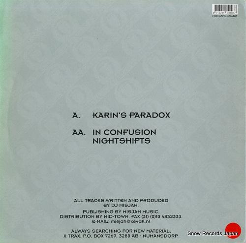 DJ MISJAH karin's paradox X-019 - back cover
