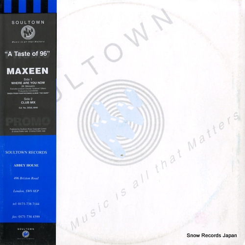 MAXEEN where are you now SOUL-0040 - front cover
