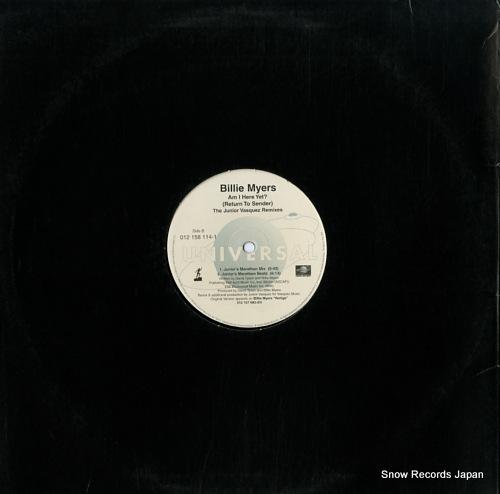 MYERS, BILLIE am i here yet? (return to sender) the junior vasquez remixes 012158114-1 - back cover