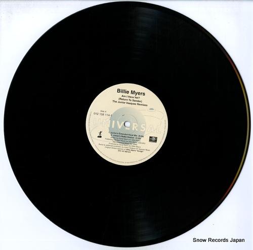 MYERS, BILLIE am i here yet? (return to sender) the junior vasquez remixes 012158114-1 - disc