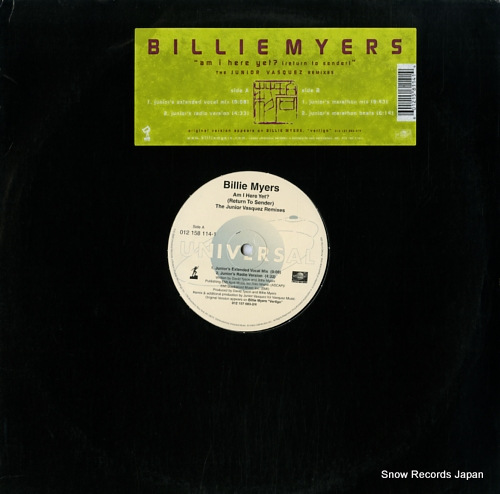 MYERS, BILLIE am i here yet? (return to sender) the junior vasquez remixes 012158114-1 - front cover
