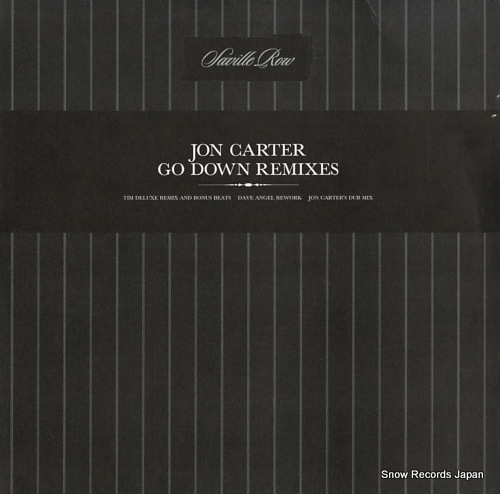 CARTER, JON go down remixes SROW003X - front cover