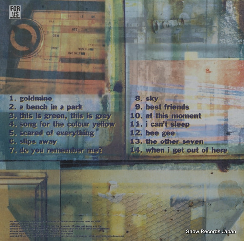 SPEARMINT songs for the colour yellow FU002 - back cover