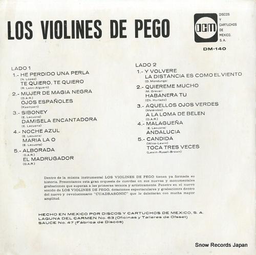 LOS VIOLINES DE PEGO nuevas grabaciones (album 10) DM-140 - back cover