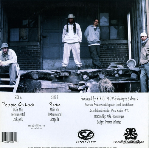 STRICT FLOW people on lock / radio RSP008 - back cover