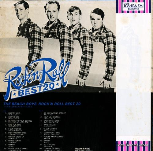 BEACH BOYS, THE rock'n roll best 20 ECS-90057 - back cover