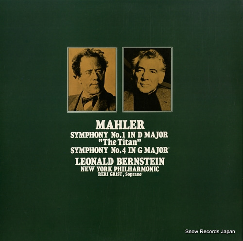 BERNSTEIN, LEONARD mahler; symphony no.1