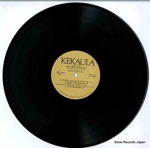 KEKAULA, EDDIE how great thou art KPL1005 - disc
