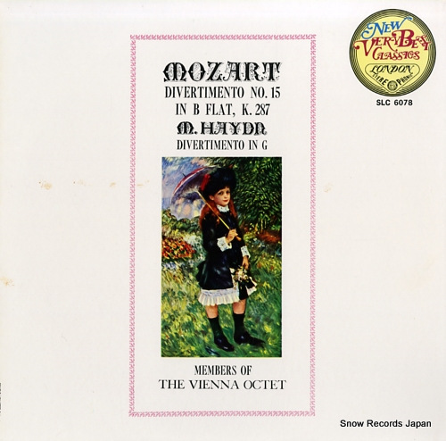 MEMBERS OF THE VIENNA OCTET mozart; divertimento no.15 in b flat, k.287 SLC6078 - front cover