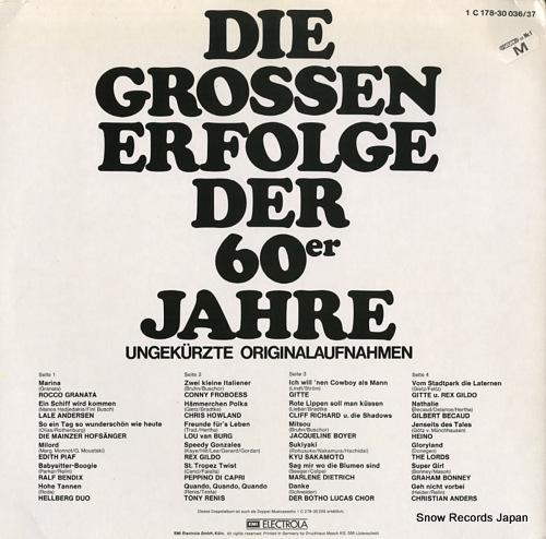 V/A die grossen erfolge der 60er jahre 1C178-30036/37 - back cover