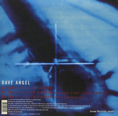 ANGEL, DAVE tokyo stealth fighter 12BRW355/572039-1 - back cover