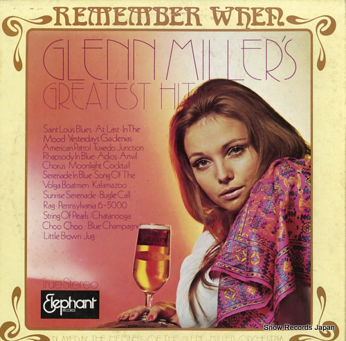 MILLER, GLENN remember when glenn miller's greatest hits EL-1801-1802 - back cover