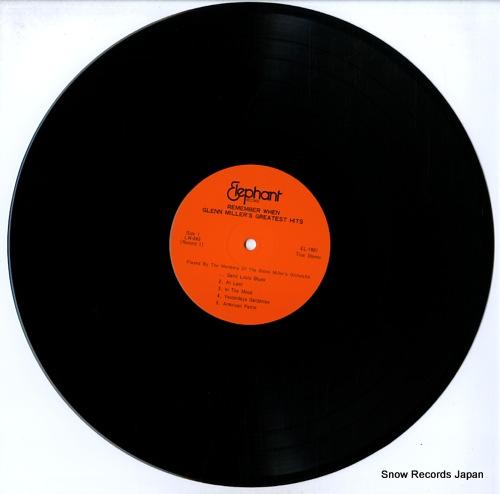 MILLER, GLENN remember when glenn miller's greatest hits EL-1801-1802 - disc