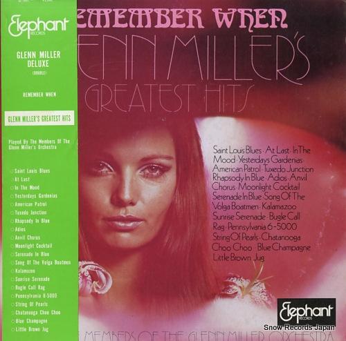 MILLER, GLENN remember when glenn miller's greatest hits EL-1801-1802 - front cover