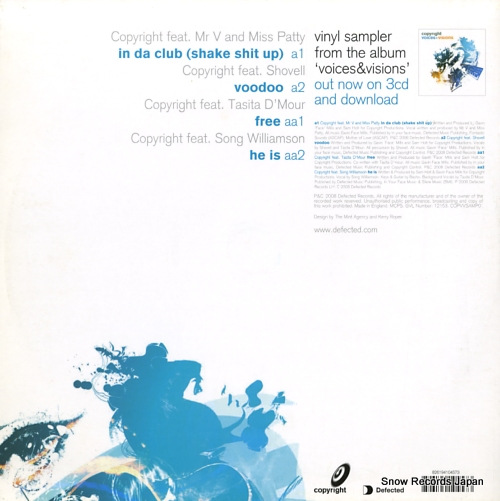 COPYRIGHT voices & visions ep one COPVVSAMP01 - back cover