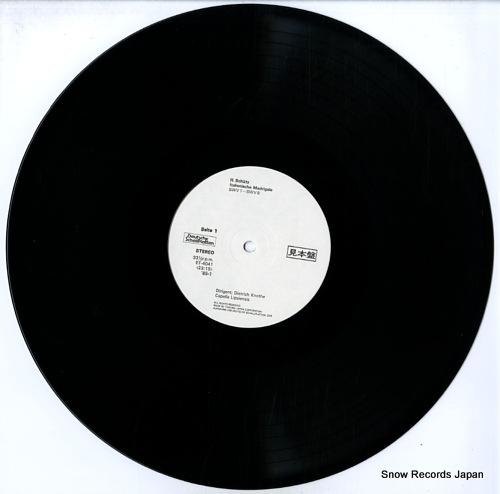 KNOTHE, DIETRICH schutz; italienische madrigale ET-4041-42 - disc