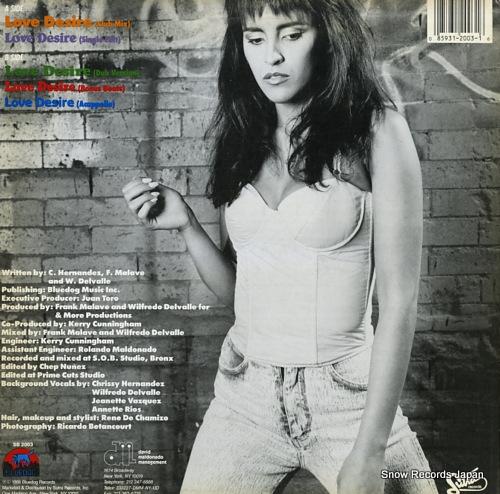 I-EECE, CHRISSY love desire SB2003 - back cover