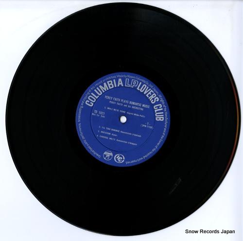 FAITH, PERCY percy faith plays romantic music TD-1021 - disc