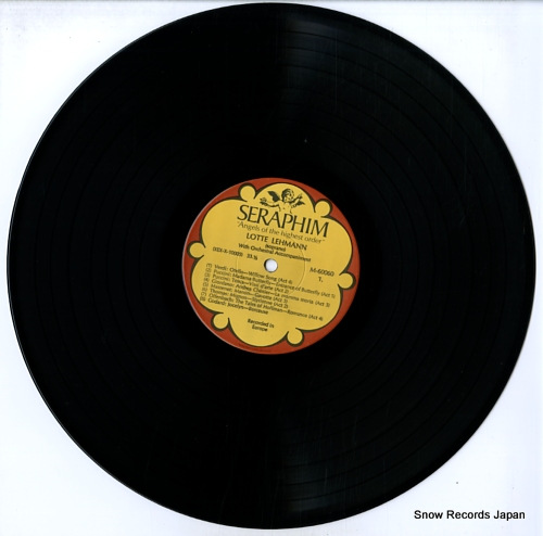 LEHMANN, LOTTE opera arias M60060 - disc