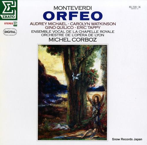 CORBOZ, MICHEL monteverdi; orfeo REL-7035-36 - front cover