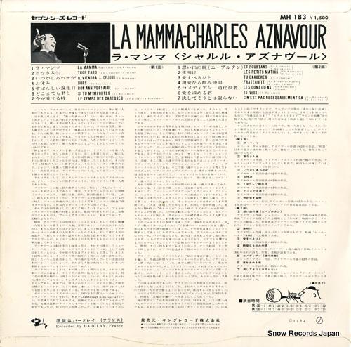 AZNAVOUR, CHARLES la mamma MH183 - back cover