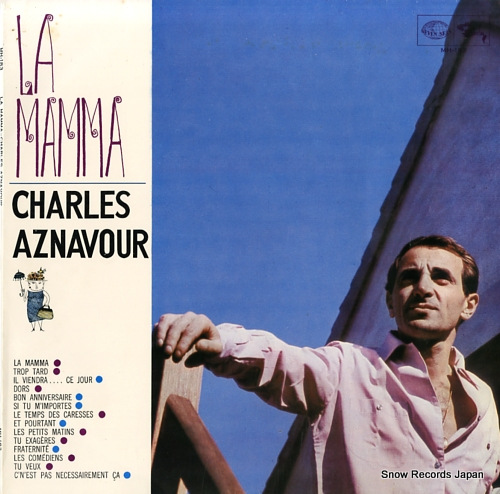 AZNAVOUR, CHARLES la mamma MH183 - front cover