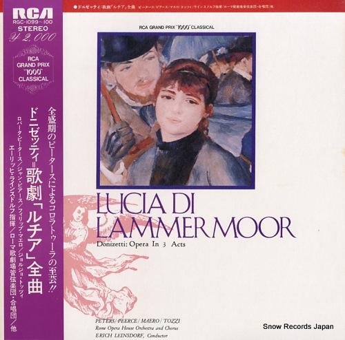 LEINSDORF, ERICH donizetti; lucia di lammermoor RGC-1099-100 - front cover