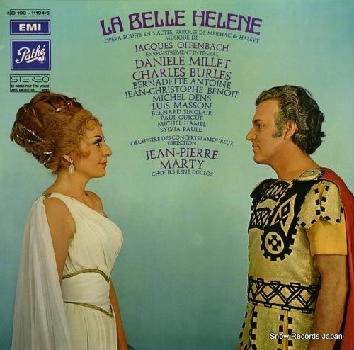 MARTY, JEAN-PIERRE offenbach; la belle helene 2C193-11194/5 - front cover