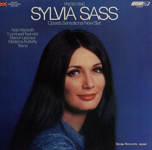 SYLVIA, SASS presenting sylvia sass / opera's sensational new star OS26524 - front cover