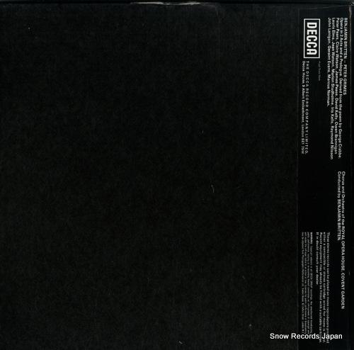 BRITTEN, BENJAMIN britten; peter grimes SXL2150-2 - back cover