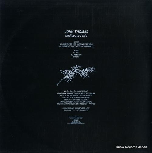 THOMAS, JOHN undisputed life SINO02A - back cover