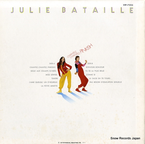 BATAILLE, JULIE chantez, chantez, pinkish VIP-7223 - back cover