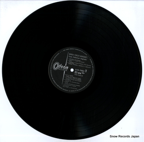 MARQUEZ, MARIA TEREZA canta folkloricas originales EOS-70063 - disc