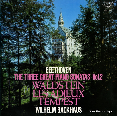 BACKHAUS, WILHELM beethoven; the three great piano sonatas vol.2 SLC1577 - front cover