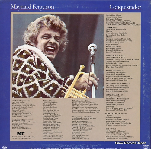 FERGUSON, MAYNARD conquistador 25AP441 - back cover