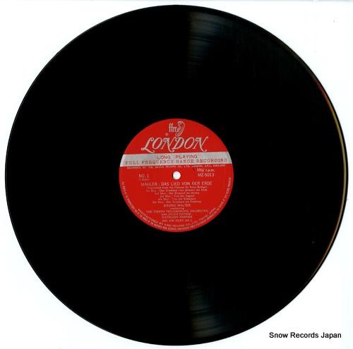 WALTER, BRUNO mahler; das lied von der erde MZ5013 - disc