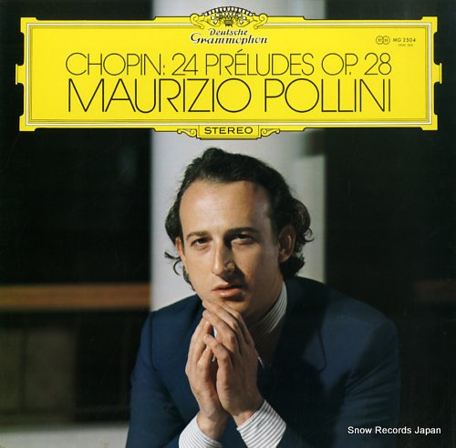 POLLINI, MAURIZIO chopin; 24 preludes op.28 MG2504 - front cover