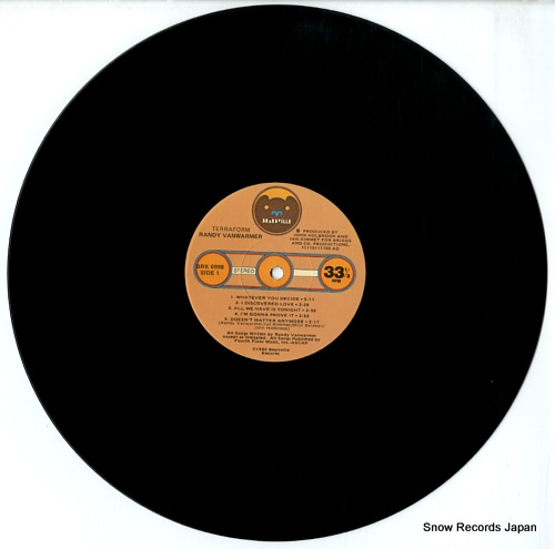 VANWARMER, RANDY terraform BRK6998 - disc