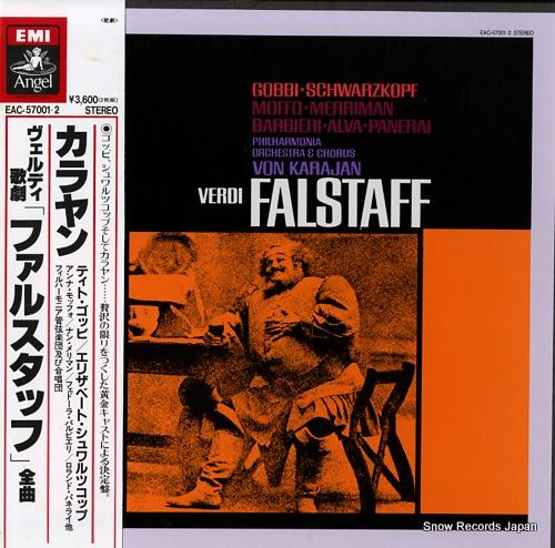 KARAJAN, HERBERT VON verdi; falstaff EAC-57001.2 - front cover